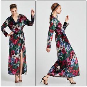 ZARA Long Kimono Wrap Dress